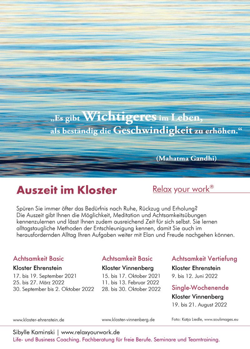 Achtsamkeitsseminar NRW